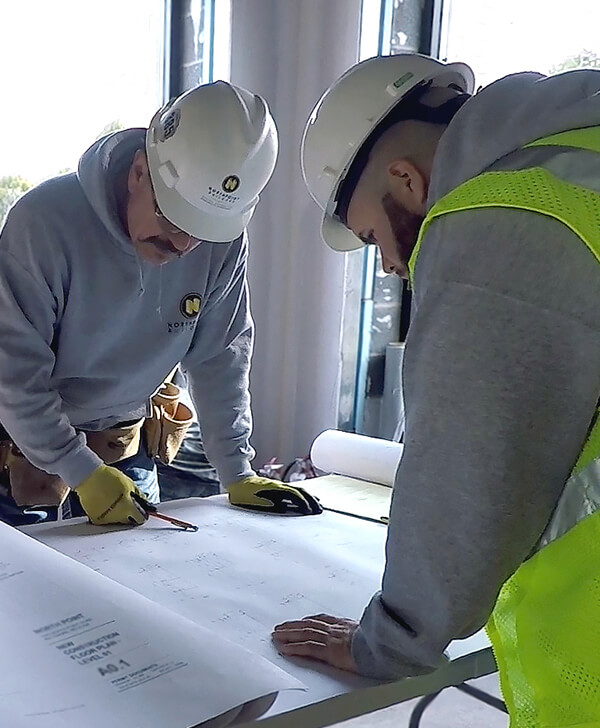 North Point Builders Team Working